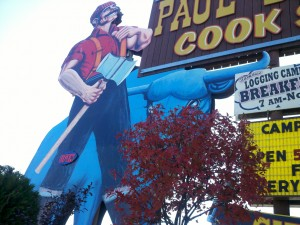 Paul Bunyan Sign in Minocqua