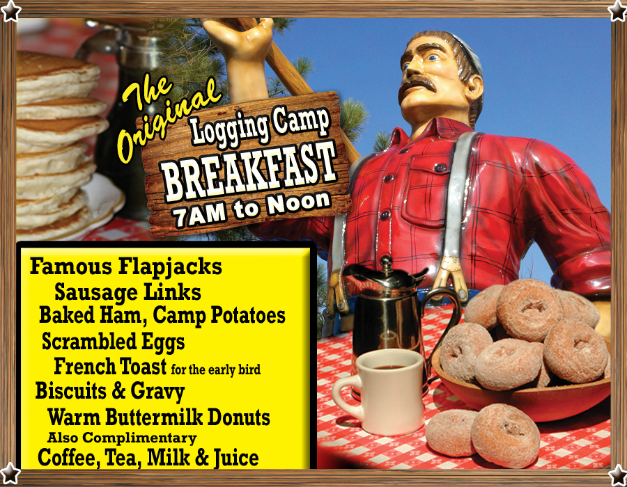 Paul Bunyan Original Logging Camp Breakfast