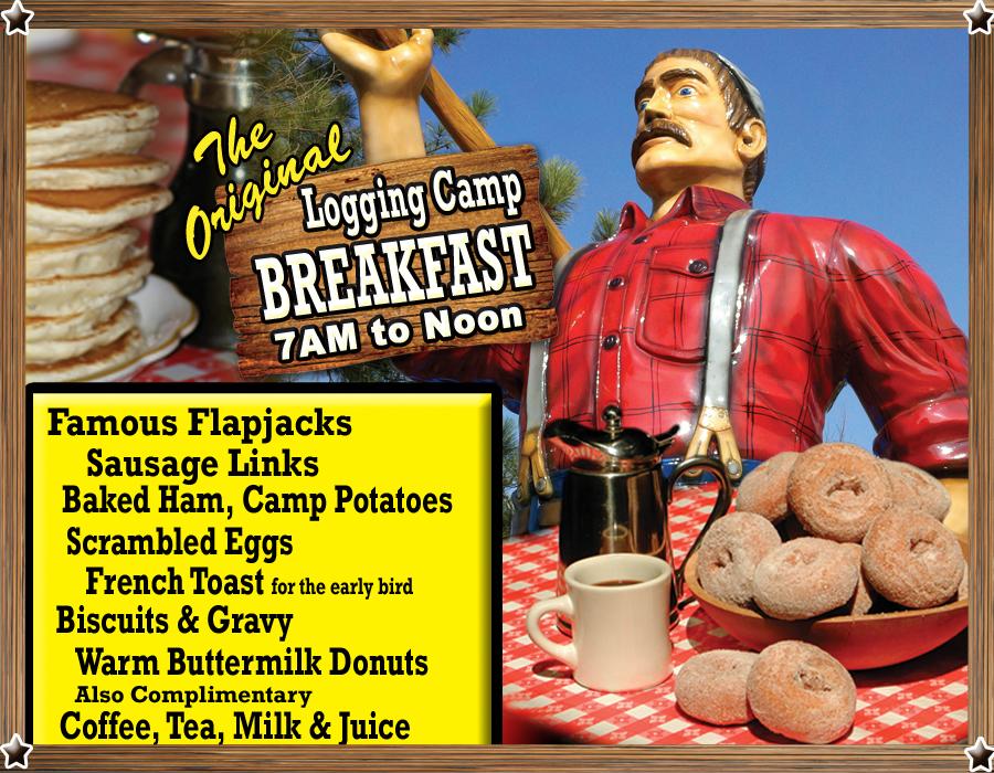 Paul Bunyan Original Logging Camp Breakfast